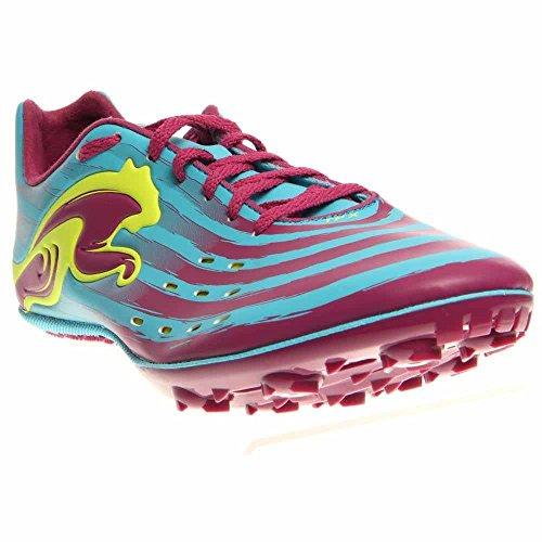 PUMA Women's TFX Sprint V4 Running Shoe,Blue Atoll/Magenta/Fluro Yellow,8 B US