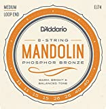 D\'Addario EJ74 Phosphor Bronze Mandolin Strings, Medium, 11-40