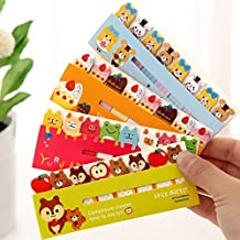 Set of 4 Lovely Cute Cartoon Note Sticky Notes Memo Note Pads Page Flag Markers Bookmarks(4 booklets each with 8 pads,15 Sheets each),Style 2