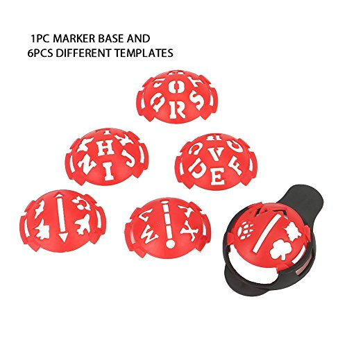 Echeer Golf Ball Marker, Golf Ball Line Makers Golf Ball Line Drawing Marking Alignment Putting Tool, Template Drawing Mark Alignment Putting Tool for Golfer Training Accessories (Pack of 7) by Echeer (Image #2)