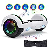 "jolege Hoverboard Smart Scooter Two-Wheel Self Balancing Electric Scooter 6.5""Hover Board UL2272 Certified Battery Protection with 300W Dual Motors-White"