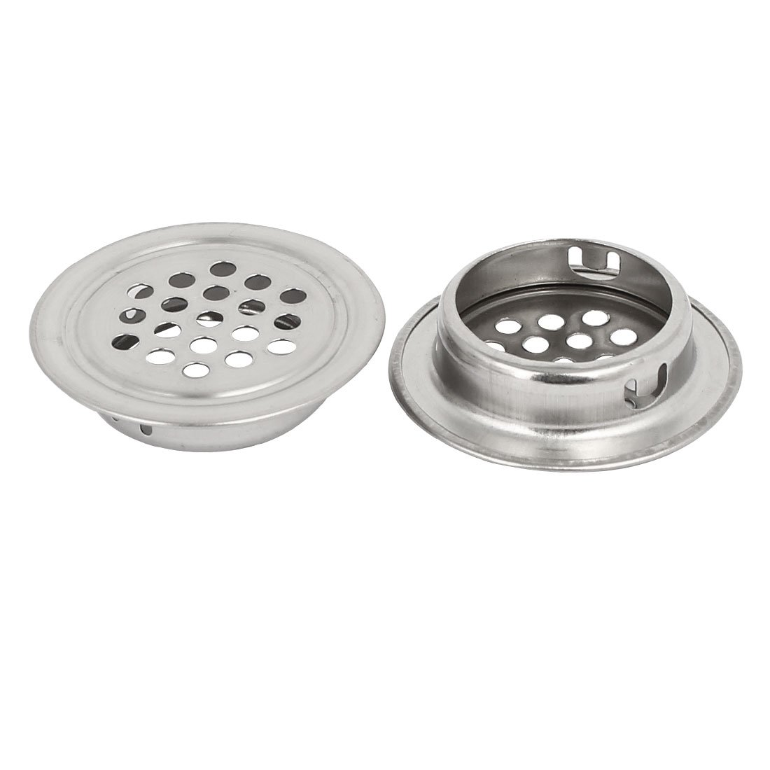 uxcell 28.5mm Bottom Dia Stainless Steel Round Shaped Mesh Hole Air Vent Louver 25pcs by uxcell (Image #2)