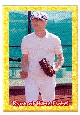 Baseball Musical (High School Musical trading card sticker expanded edition #13 Lucas Grabeel as Ryan Evans Baseball)