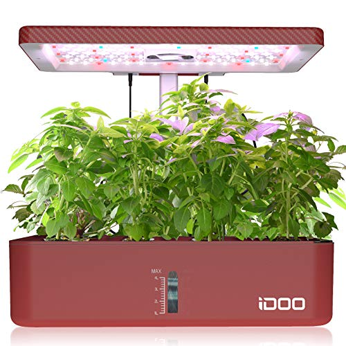 12Pods Indoor Herb Garden Kit, Hydroponics Growing System with LED Grow Light, Smart Garden Planter for Home Kitchen, Automatic Timer Germination Kit, Height Adjustable, ID-IG301(No Seeds)