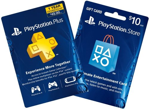 1-Year PS Plus + $10 PS Gift Card - PS3 / PS4 [Digital Code ...