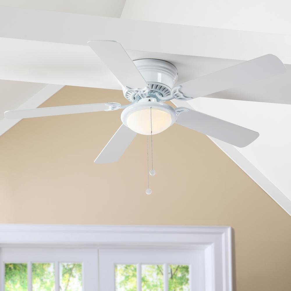 Hugger 52 in. LED White Ceiling Fan-AL383LED-WH by Air Cool (Image #3)
