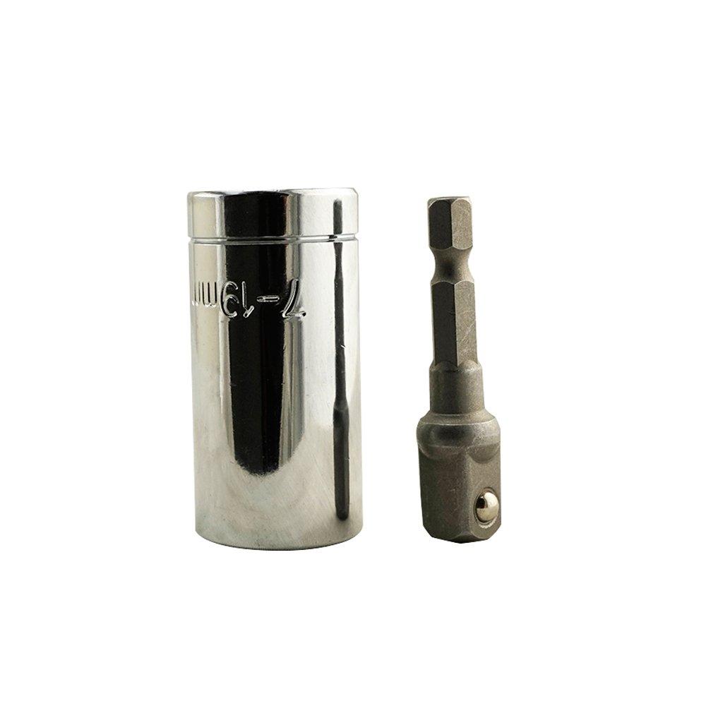 Joykit 2Pcs Universal Gator Socket Adapter Grip with Power Drill Adapter Tool