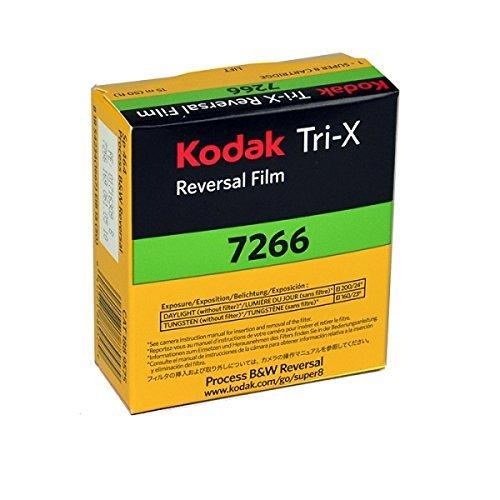 Kodak TXR-464 Tri-X Reversal Black & White, Silent Super 8 Movie Film, 50 Foot Cartridge, Film #7266, ISO 200 / 160, #502-9046, *USA* by KODAK