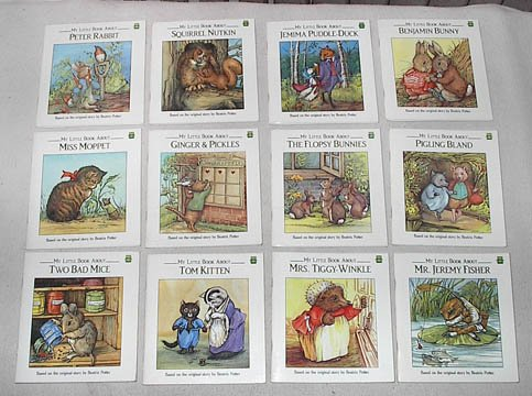 My Little Book About series set of 12: (Peter Rabbit; Squirrel Nutkin; Jemima Puddle-Duck; Benjamin Bunny; Miss Moppet; Ginger & Pickles; The Flopsy Bunnies; Pigling Bland; Two Bad Mice; Tom Kitten; Mrs. Tiggy-Winkle; Mr. Jeremy Fisher) (Leap Frog)