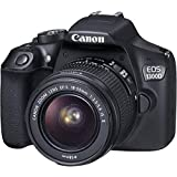 Canon EOS 1300D - Cámara réflex + Objetivo EF-S 18-55 mm f/3.5-5.6 IS II - Negro