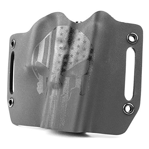 Infused Kydex USA Punisher Stealth Black OWB Holster (Right-Hand