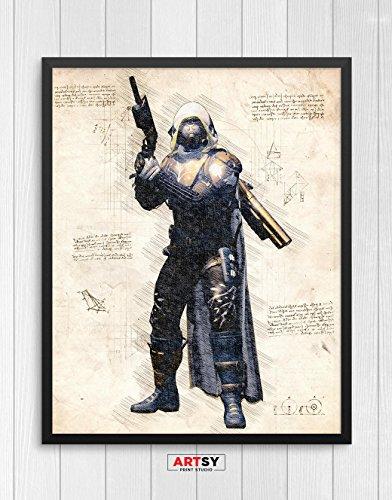 Destiny print, Destiny poster, Hunter poster, Gaming Room Decor, Game Art, N.006 (8 x 10 (Destiny Decor)