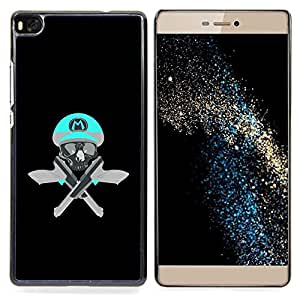 - Skull Funny M Game Retro Guns Pistols - - Snap-On Rugged Hard Cover Case Funny HouseFOR HUAWEI P8