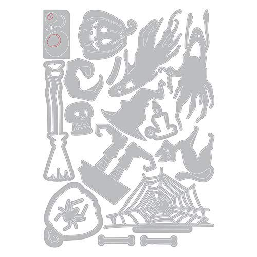 Tim Holtz Sizzix Halloween 2 Items Frightful Things 2019 Thinlits and Halloween 2018 Collage Paper