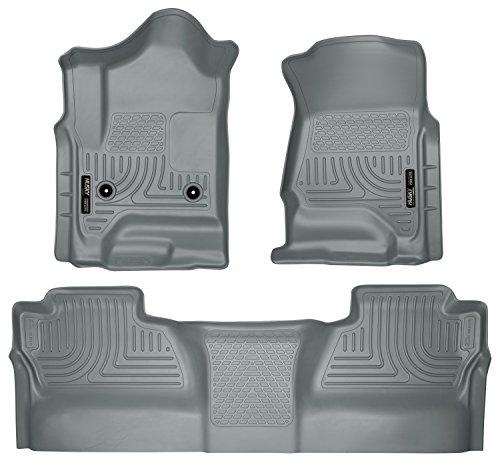 Husky Liners Front & 2nd Seat Floor Liners Fits 14-18 Silverado 1500, 15-19 Silverado 2500/3500, 19 Silverado 1500 LD, 19 Sierra 1500 Limted, Crew Cab