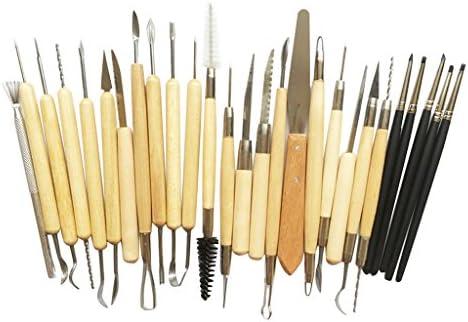 約27個 陶器粘土彫刻ツール 粘土彫刻ツール 粘土道具 陶器粘土彫刻 道具 DIY 手作り 彫刻用