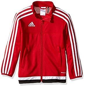 adidas Youth Soccer Tiro 15 Training Jacket, Power Red/White/Black, XX-Small