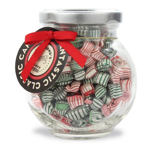 Peppermint & Wintergreen mint, Christmas mix, Candy Pillows 4 oz Gift Jar Hammonds ()