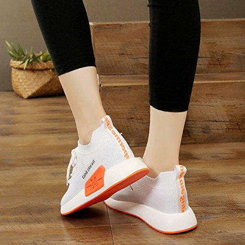 HBDLH-Damenschuhe/Herbst Weiße Schuhe Modische Weiß Damenschuhe Herbst Sportschuhe Weiß Modische ded7e4