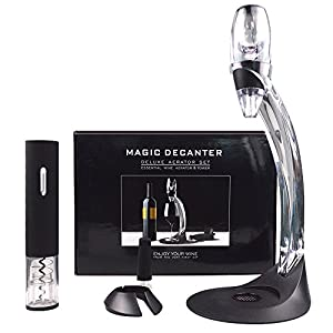 Red Wine Accessories Gift Set,Electric Wine Opener, Wine Aerator ,Quick Aerator Fast Decanting Wine Makes the Wine Taste Smoother Wine Enthusiast Decanter,Best Christmas and Holiday Gifts