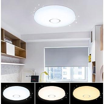 Charming VGO® LED Starlight Effekt Deckenlampe 60W Kinderzimmer Wand Deckenleuchte  Farbwechselfunktion Flurleuchte 550*112mm