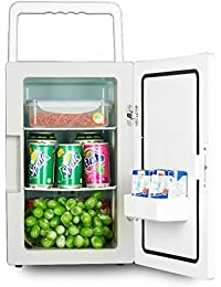 SL&BX 18l household refrigerator,Car refrigerator and box office dormitory room mini refrigerator cabinet cosmetic storage(White)-White 31x20.5x22cm(12x8x9inch)