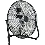 F2C 20 Black Portable Heavy Duty High Velocity 110V Cyclone Floor Fan Commerical Industrial Home Use
