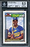 1992 topps gold #156 MANNY RAMIREZ indians rookie card BGS 8.5 (8.5 9 9 8.5) Graded Card