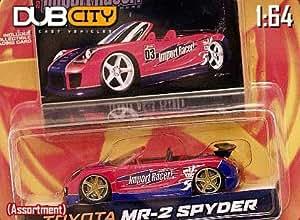 Jada Dub City Import Racer Red & Blue Toyota MR-2 Spyder 1:64 Scale Die Cast Car