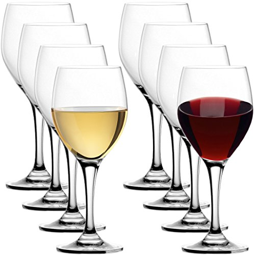 Stolzle (Set of 8) Lead-Free Crystal 15oz Adela Wine Glasses Port Dessert Germany, For Red & White
