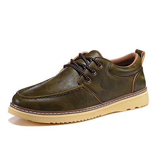 Winter 04 Feifei EU 4 Colors Leather Men's Size 5 UK7 8 Leisure Retro Color CN42 Shoes Shoes 41 vUw5FqEx