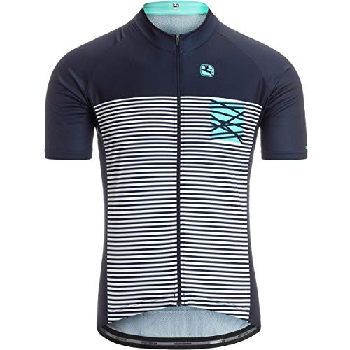 Giordana Moda Vero Pro Short-Sleeve Jersey - Men's Mare Midnight Blue/Aqua, -