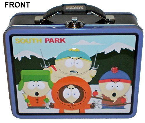 South Park Purple and Black Embossed Metal Lunch Box/ Carry-All