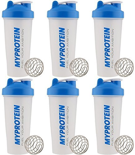 Myprotein 6 Pack Shaker Bottle 600 Milliliter 6 Pack Bundle 6 Bottle Pack