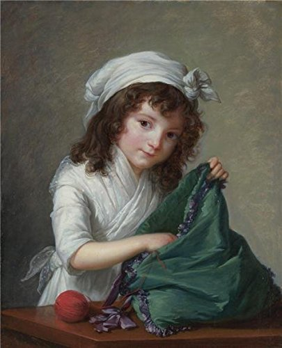 High Quality Polyster Canvas ,the Cheap But High Quality Art Decorative Art Decorative Canvas Prints Of Oil Painting 'Elisabeth Louise Vigee Le Brun-Mademoiselle Brongniart,1788', 16x20 Inch / 41x50 Cm Is Best For Living Room Artwork And Home Gallery Art And Gifts