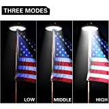 Solar Flag Pole Light, Flagpole Solar Light 800Lux- Hallomall 48LED Downlight Lighting for 15 to 25 Ft Flag Pole Topper, 3 Modes, Auto On/Off Night Light {Upgraded Version