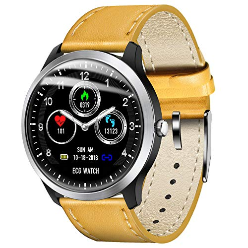 Fitness Tracker Heart Rate Monitor ECG Watch Blood Pressure Pedometer Calorie Waterproof Smart Watch Compatible with iOS Android