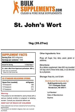 BulkSupplements St. John s Wort Extract Powder 5 Kilograms