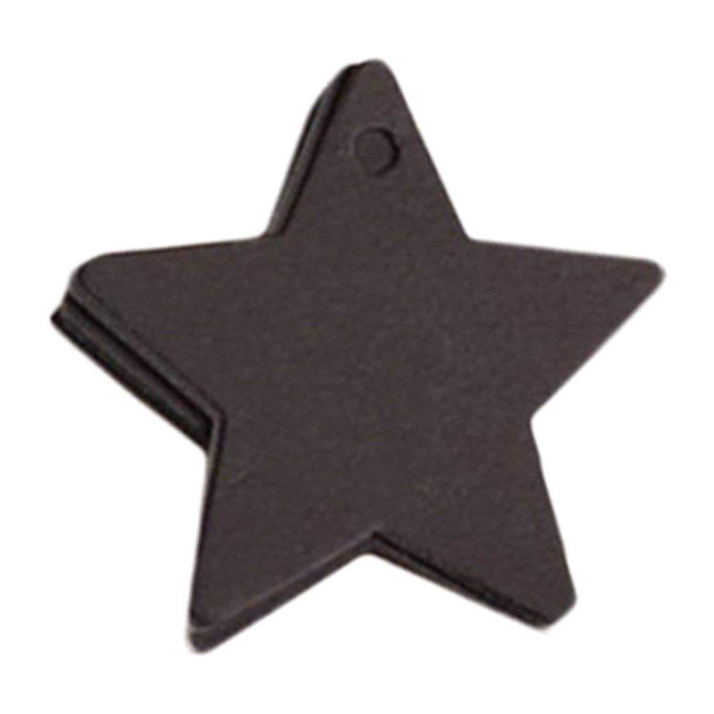 Leisial 100pezzi etichette regalo a forma di stella in carta kraft cartellini per regali di nozze compleanno bagaglio etichetta Cards Art smerlato tag, Carta da pacchi, White, 6*6cm 957VW5617C8W4RK