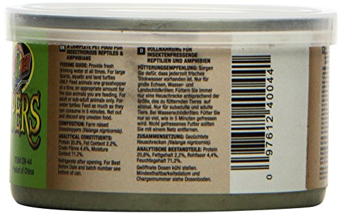 Picture of Zoo Med Laboratories SZMZM44 Can O Grasshoppers, 1.2-Ounce