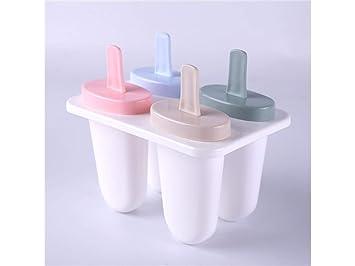Molde de la galleta Moldes de paletas ovales Bandeja de Helado de moldes de Hielo plástico Lolly (Blanco): Amazon.es: Hogar