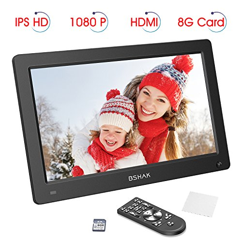 Digital Photo Frame by BSHAK IPS HD 1920×1080 Digital Picture Frame 12 inch Motion Sensor Remote Control/Slideshow/8GB Auto-Rotate Function/Calendar Function/MP3/Photo/Video Player
