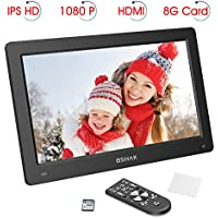 Digital Photo Frame by BSHAKIPS HD 1920x1080Digital Picture Frame 12 inch Motion Sensor Remote Control/Slideshow/8GB Auto-rotate Function/Calendar Function/MP3/Photo/Video Player
