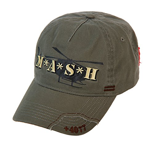(MASH Medi-Vac Logo Olive Green Adjustable Cap Hat)