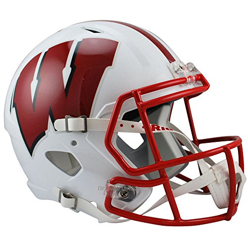 Wisconsin Badgers Officially Licensed NCAA Speed Full Size Replica Football Helmet by Riddell