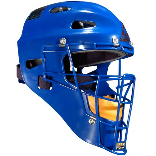 All Star Adult Hockey Style Catchers Helmets Royal by All-Star