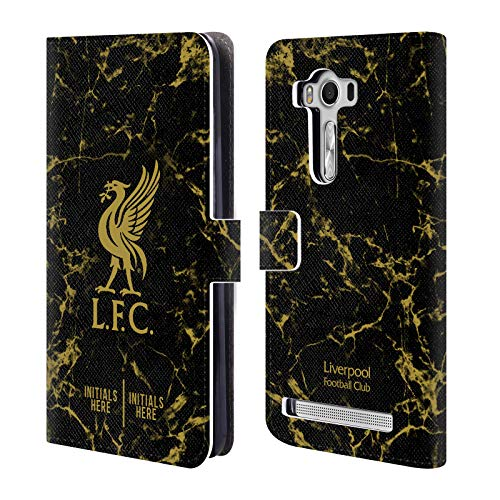Custom Customized Personalized Liverpool Football Club Black Marble 2018/19 PU Leather Book Wallet Case Cover for Zenfone 2 Laser ZE550KL