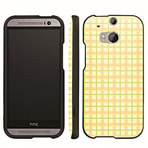 [ArmorXtreme] Designer Image Shell Cover Hard Case (Plaid Yellow) for HTC One M8