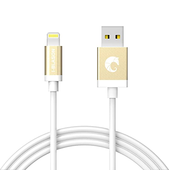 on sale b070f f56d7 Lightning Cable, i-Blason 6 Feet (1.8m) Apple MFI Certified Lightning Cable  for iPhone 6 / Plus, iPhone 5S, iPad Air 2, iPad Mini 3 (White)