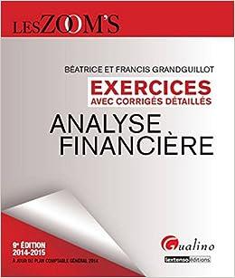 Amazon Fr Zoom S Exercices Corriges Analyse Financiere
